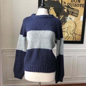 Promesa Chunky Sweater Wide Rib Stripe M/L